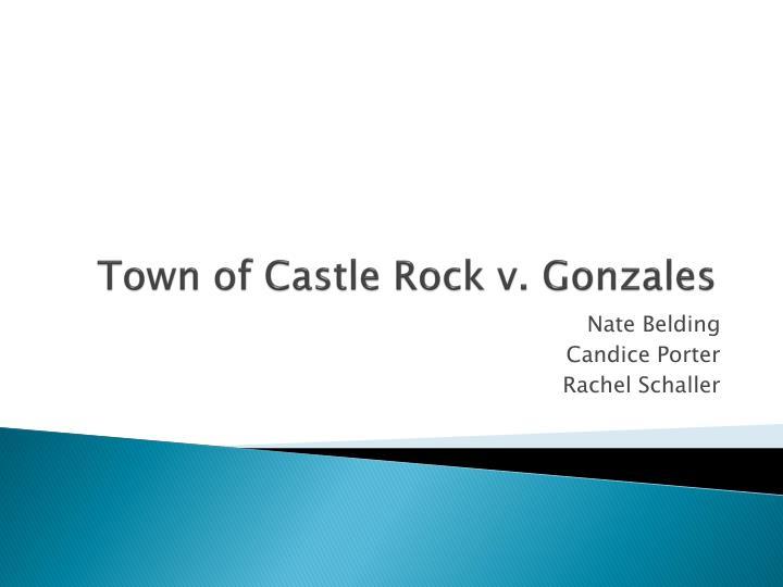 Town of castle rock v gonzales