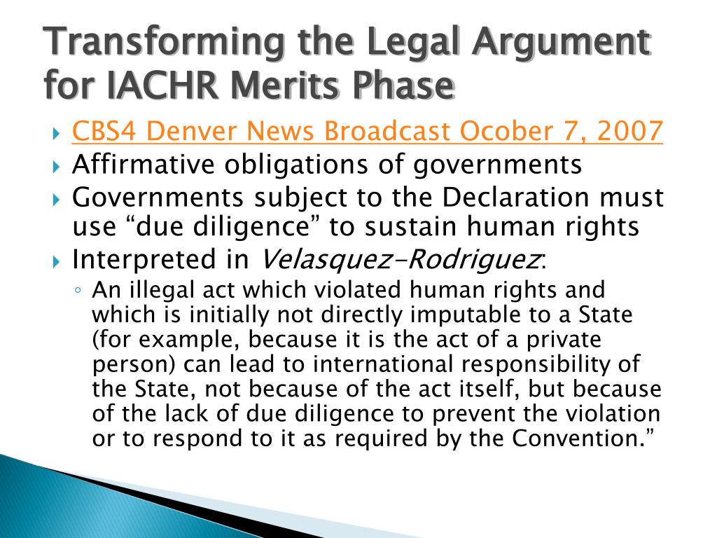 Transforming the Legal Argument for IACHR Merits Phase