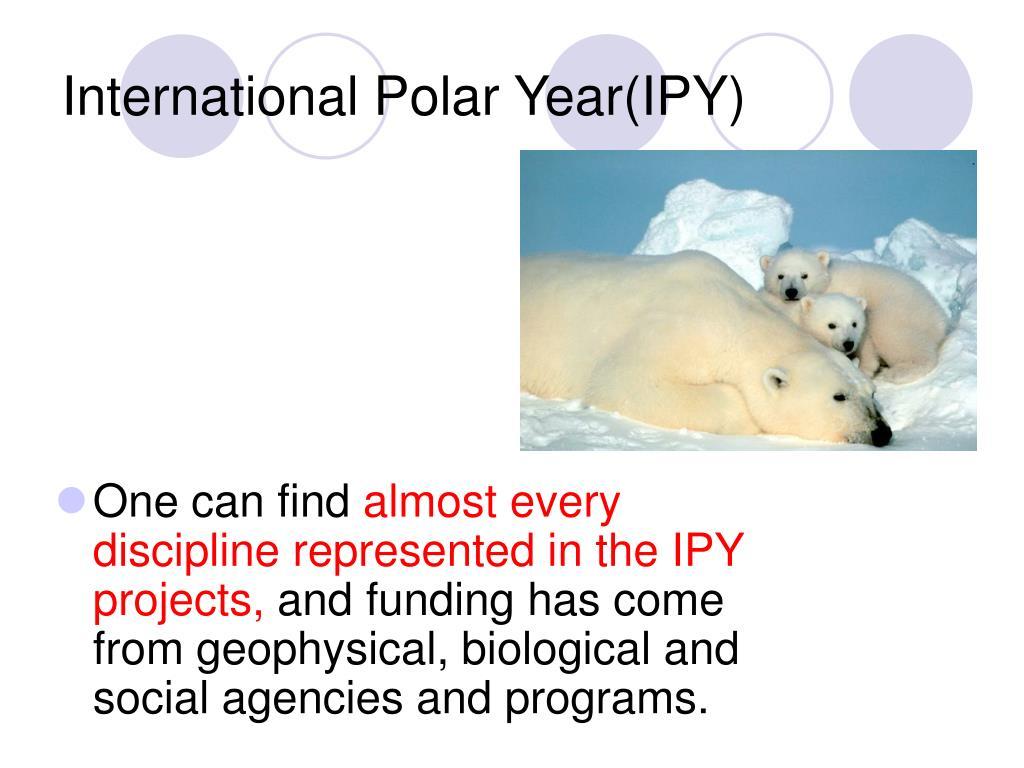 International Polar Year(IPY)