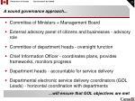 a sound governance approach