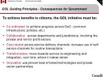 gol guiding principles consequences for government