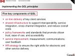 implementing the gol principles