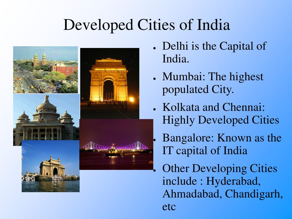 Developed Cities of India