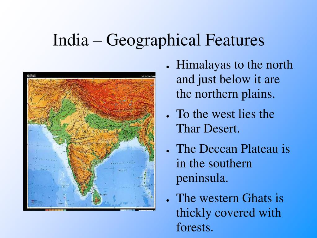 India – Geographical Features