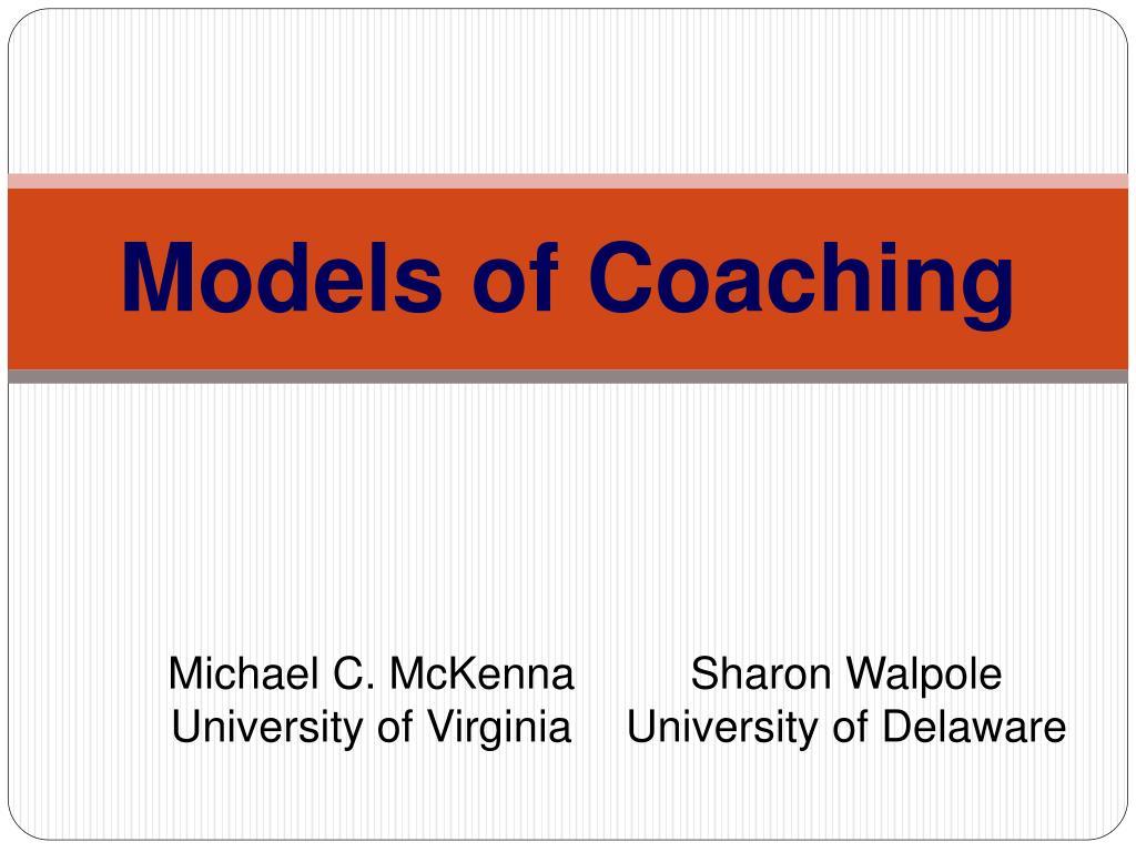 models of coaching l.