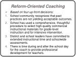 reform oriented coaching53