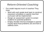 reform oriented coaching54