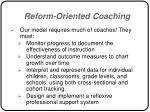 reform oriented coaching55