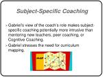 subject specific coaching37