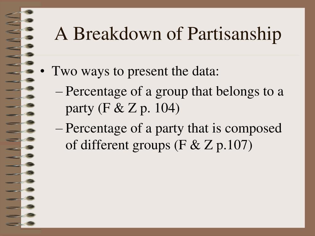 A Breakdown of Partisanship