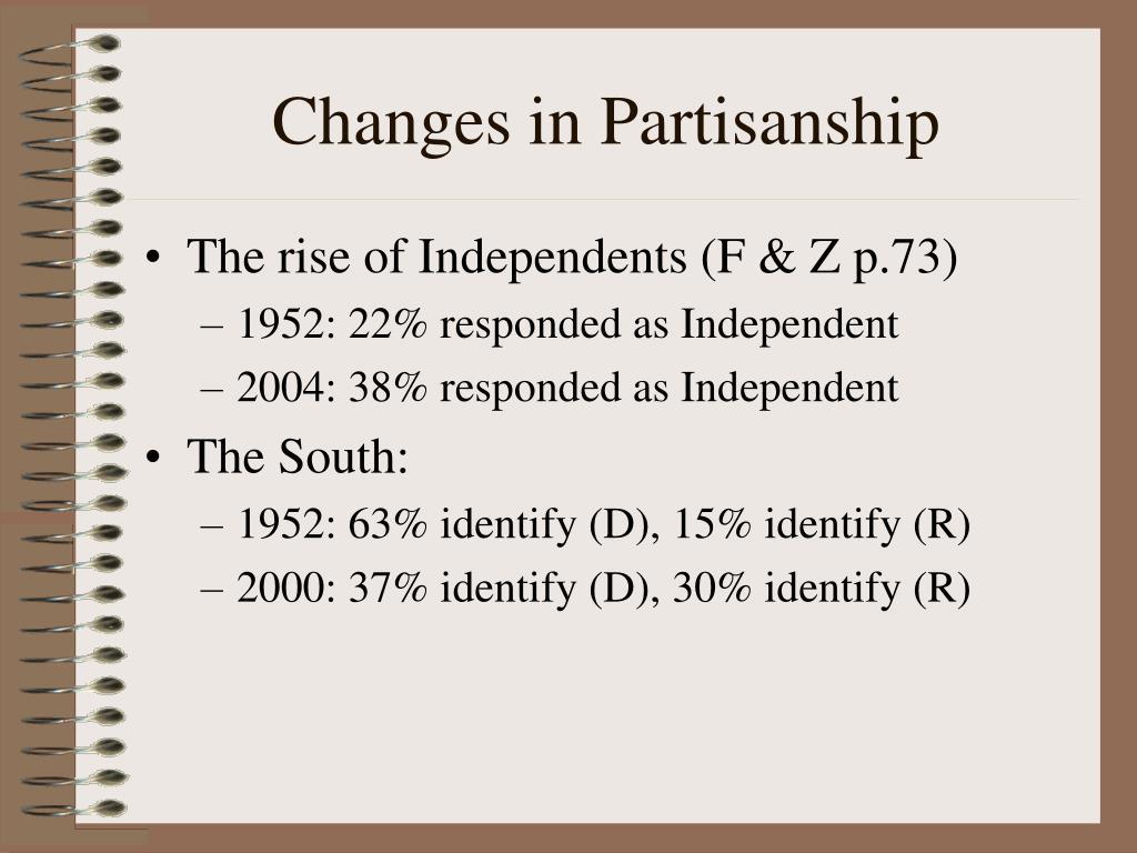 Changes in Partisanship