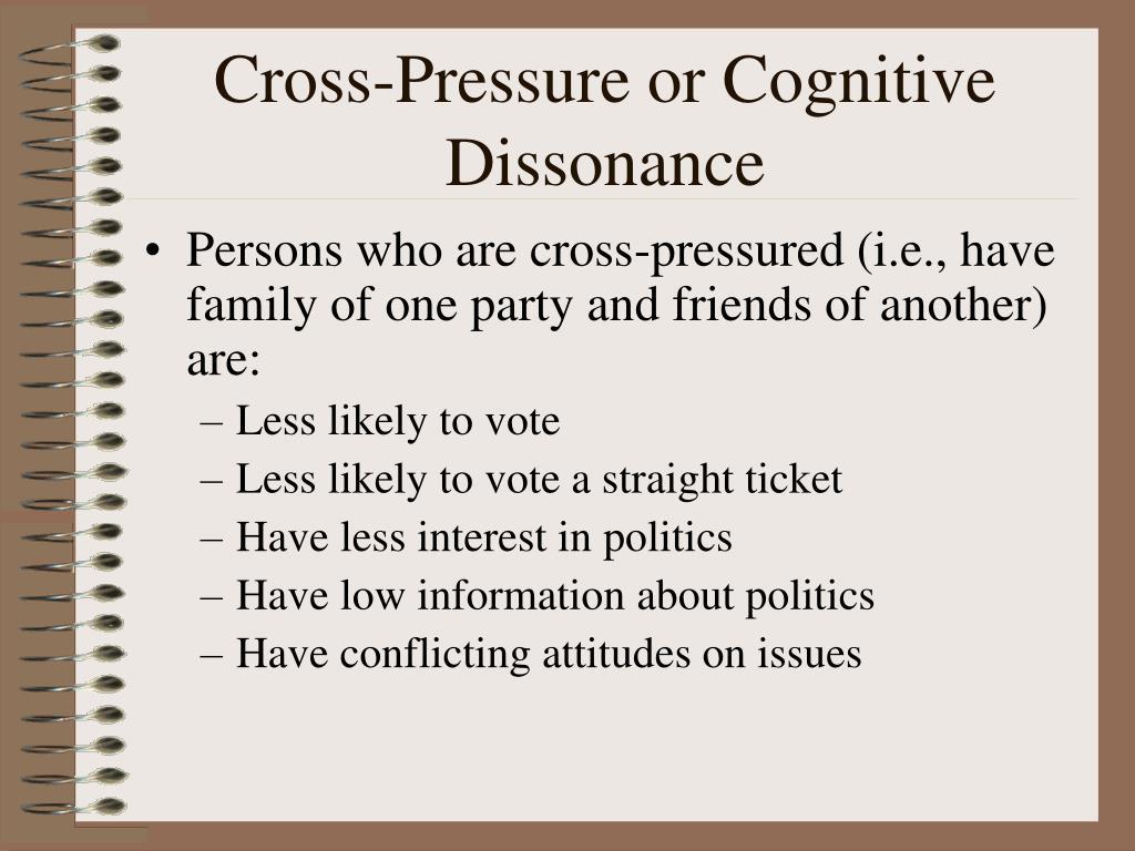 Cross-Pressure or Cognitive Dissonance