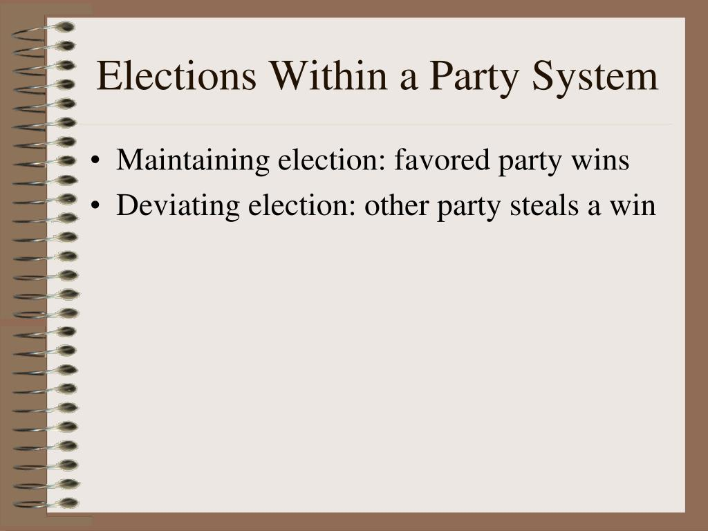 Elections Within a Party System