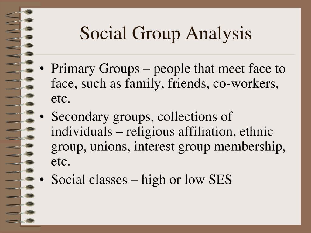 Social Group Analysis