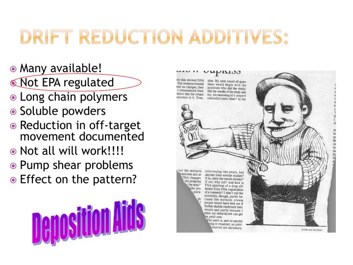 Drift reduction additives