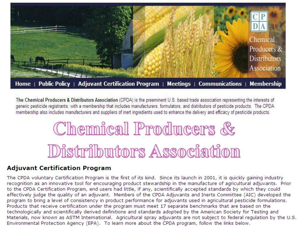 Chemical Producers & Distributors Association