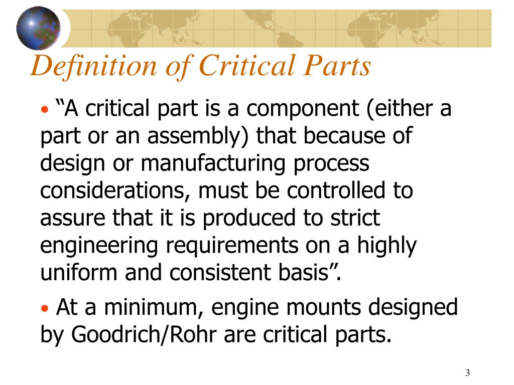 Definition of Critical Parts