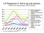 lr response 3 aid to ag sub sectors oecd 5 year moving average million deflated