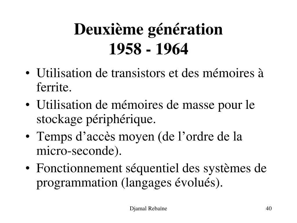 Deuxième génération