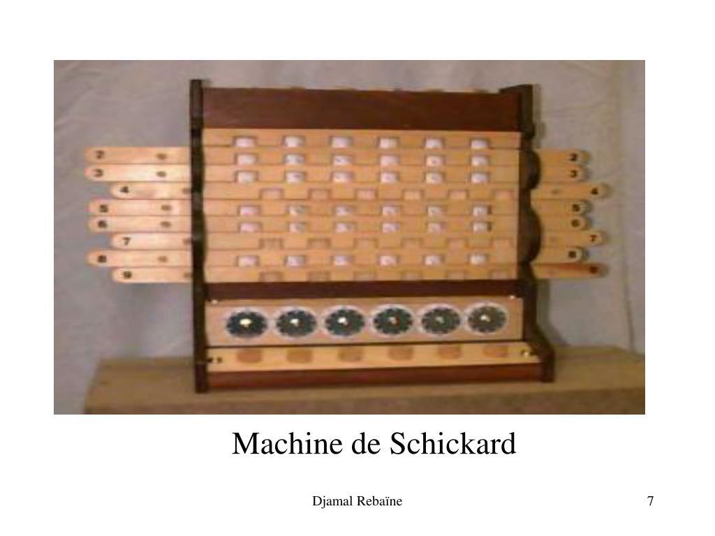 Machine de Schickard