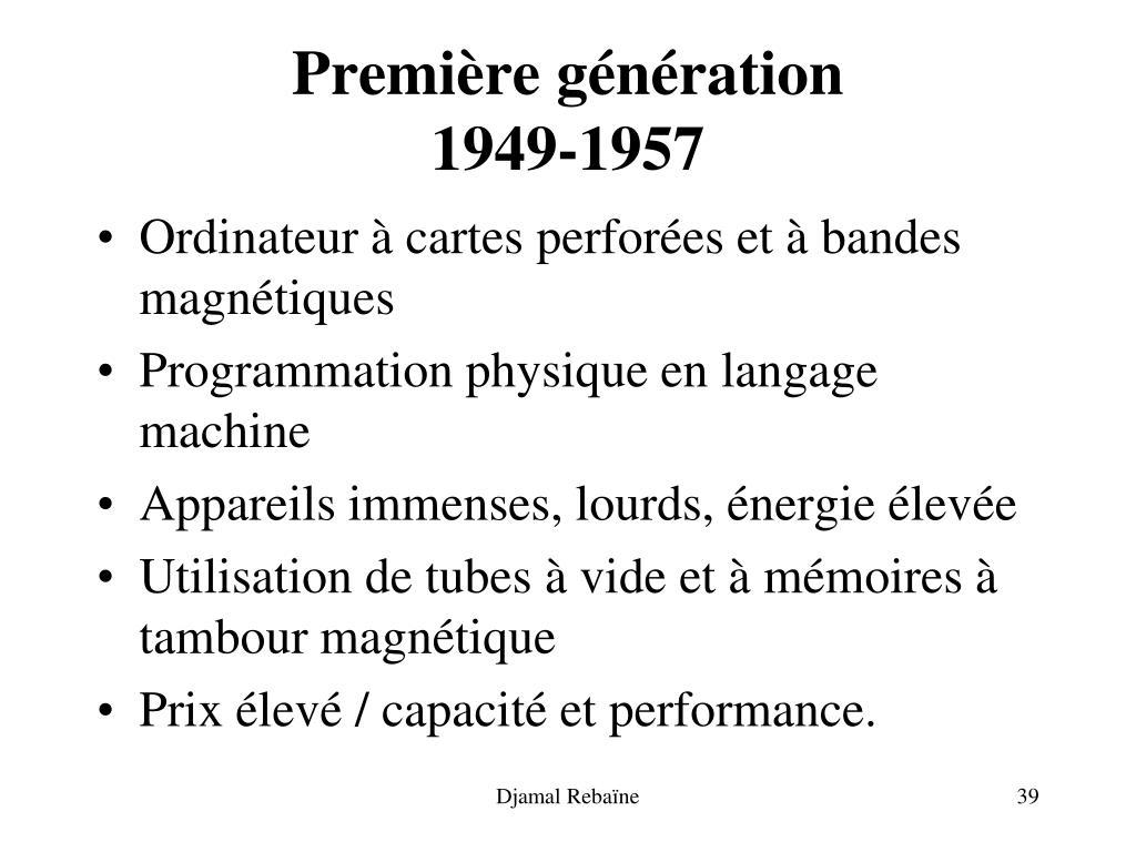 Première génération