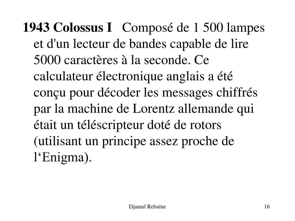 1943 Colossus I