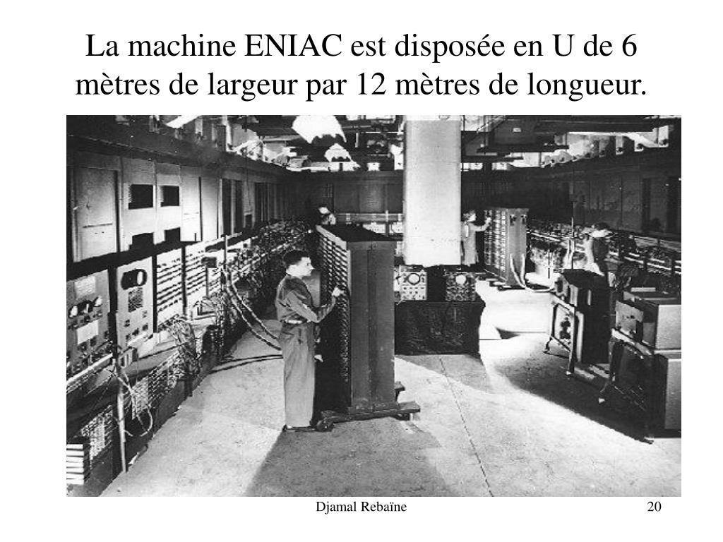 La machine ENIAC est d