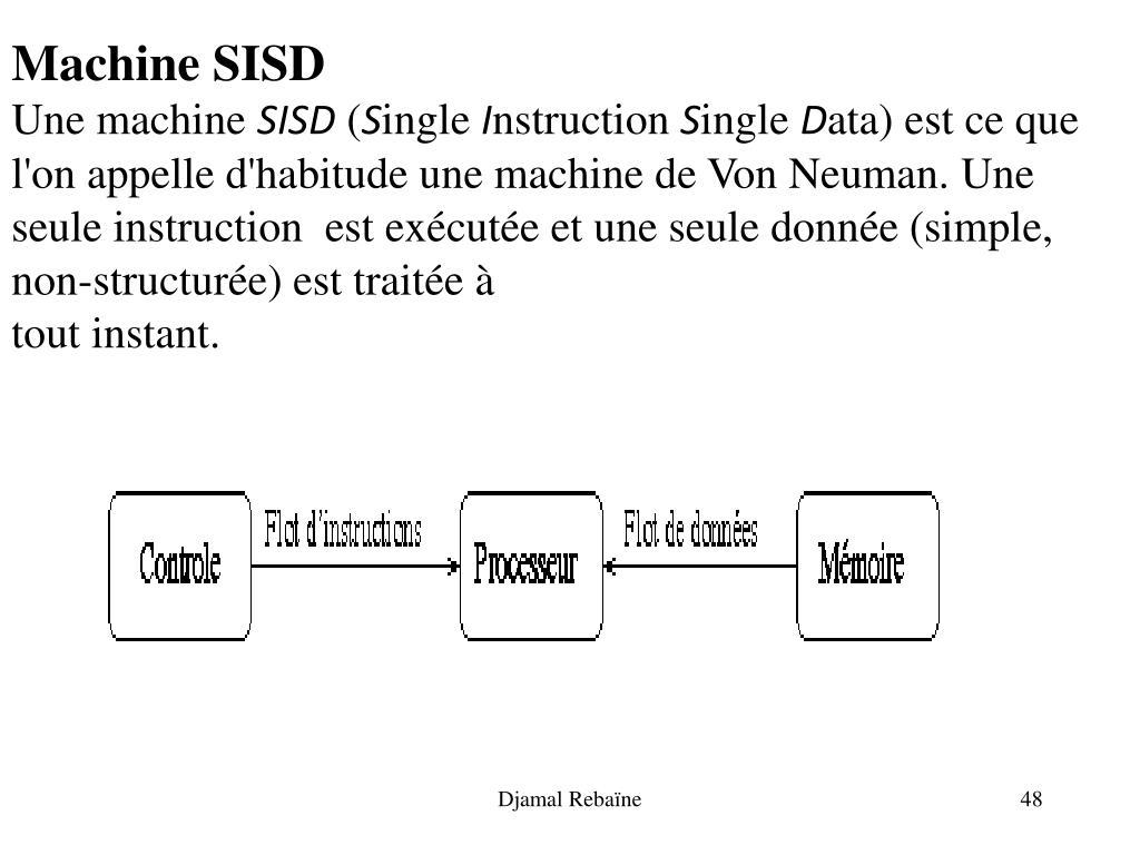Machine SISD