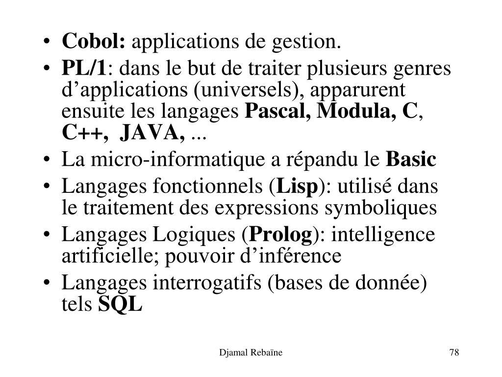 Cobol: