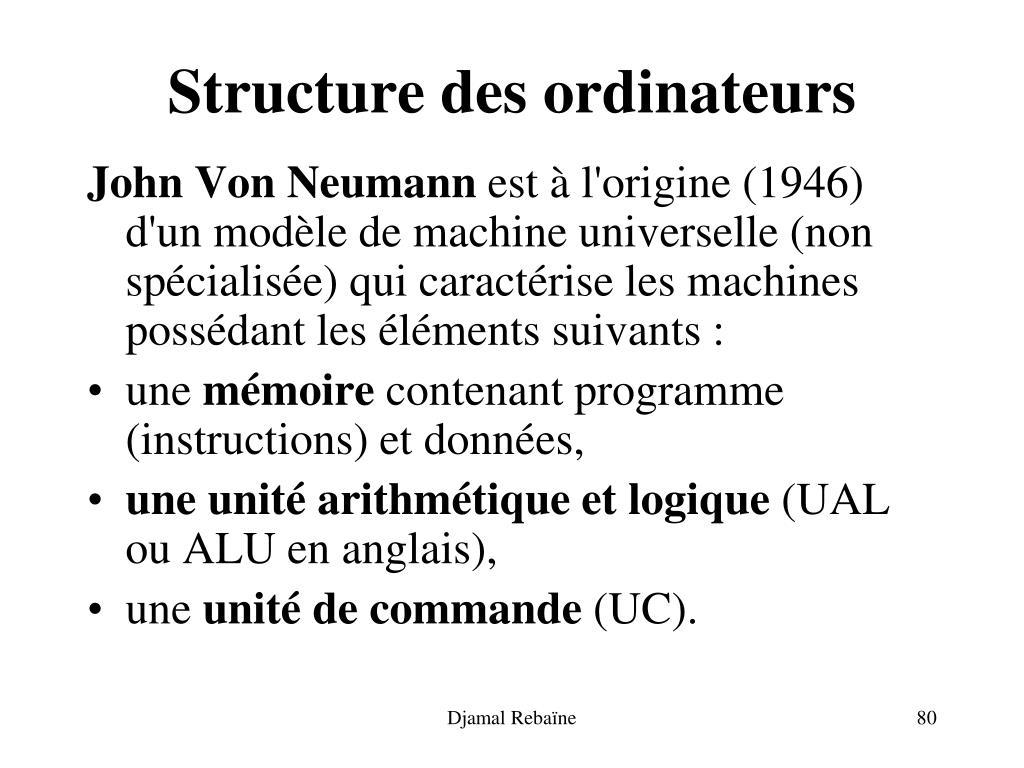 Structure des ordinateurs