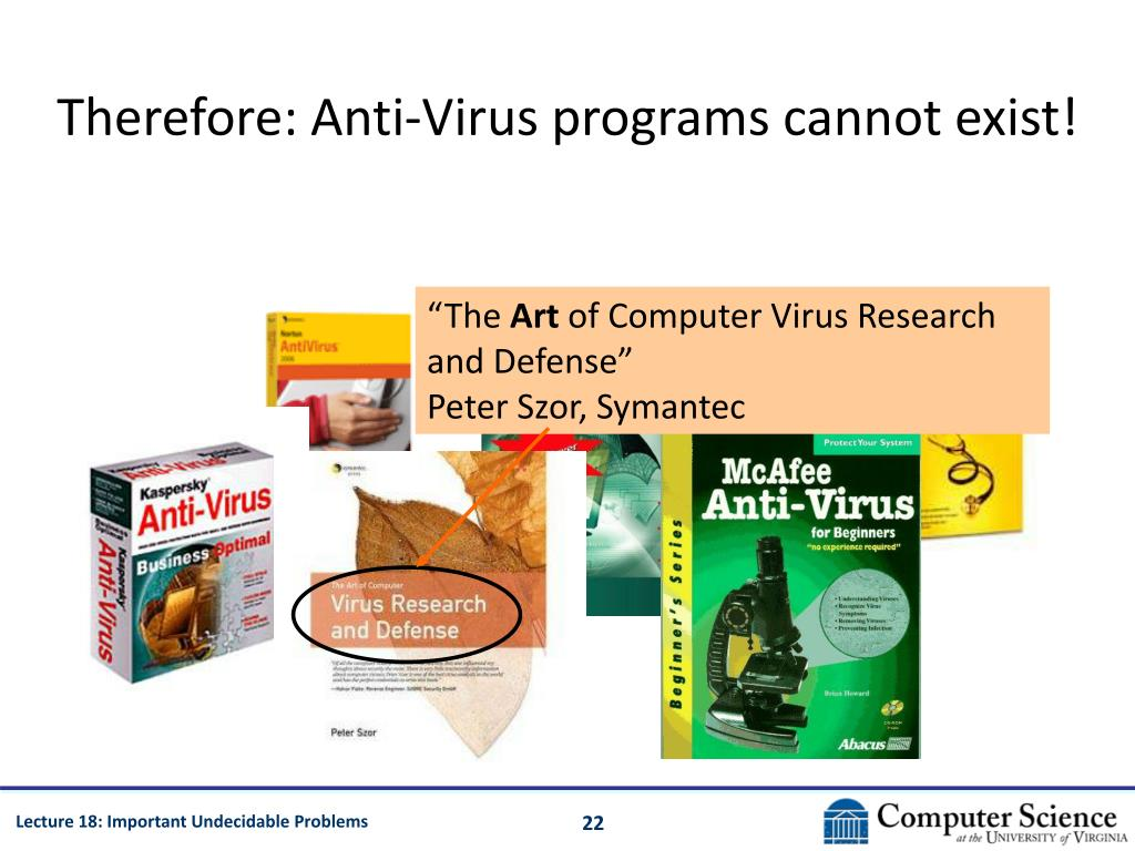 Therefore: Anti-Virus programs cannot exist!