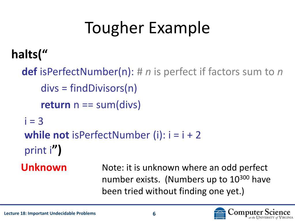 Tougher Example