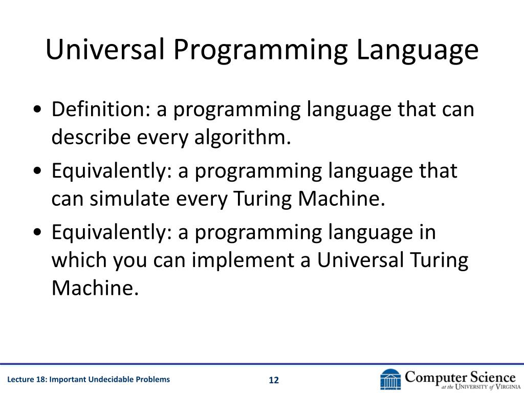 Universal Programming Language