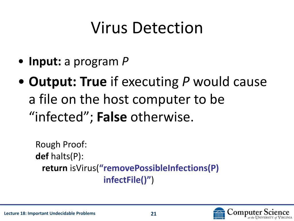 Virus Detection