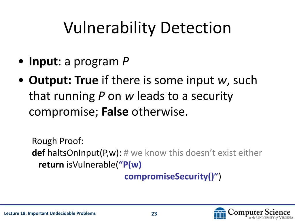 Vulnerability Detection
