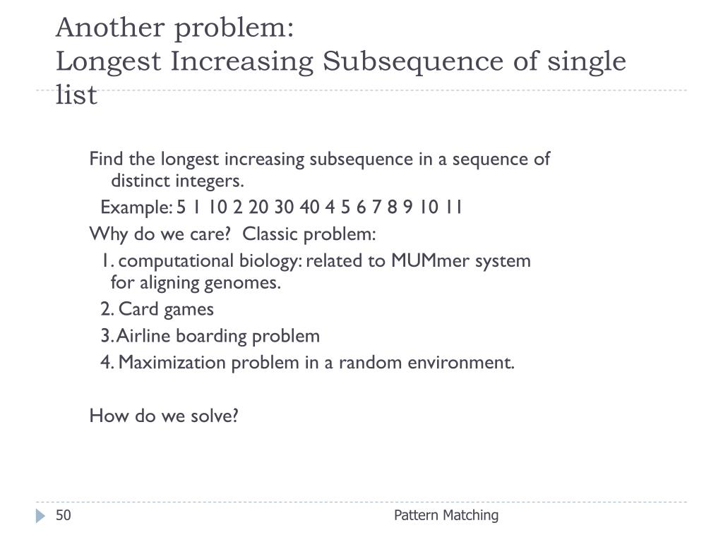 Another problem: