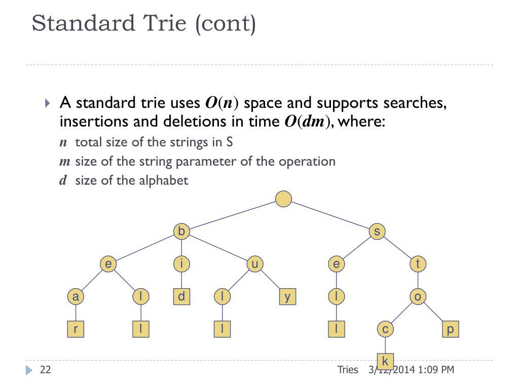 Standard Trie (cont)