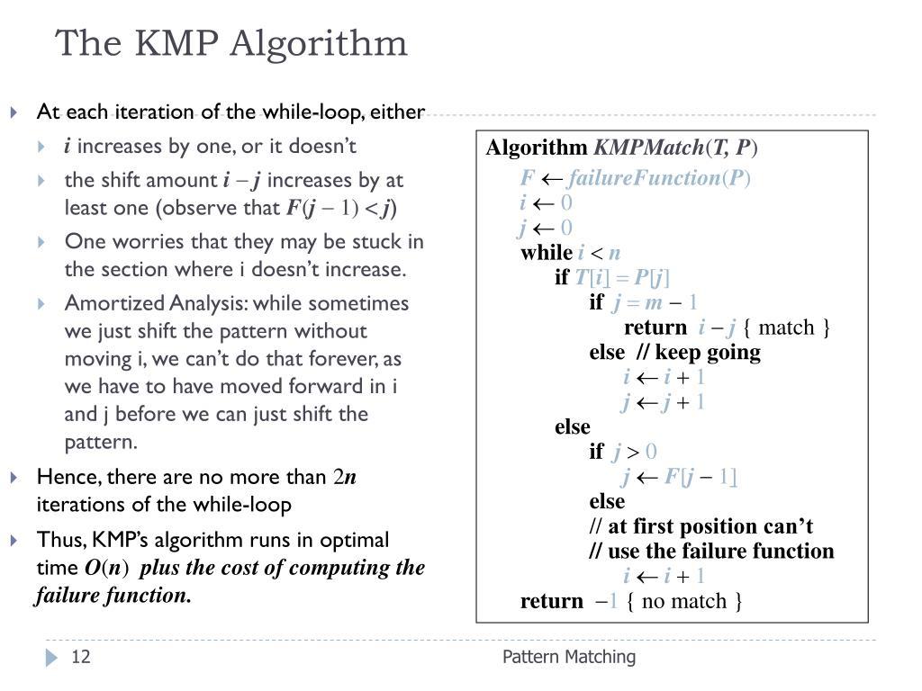 The KMP Algorithm