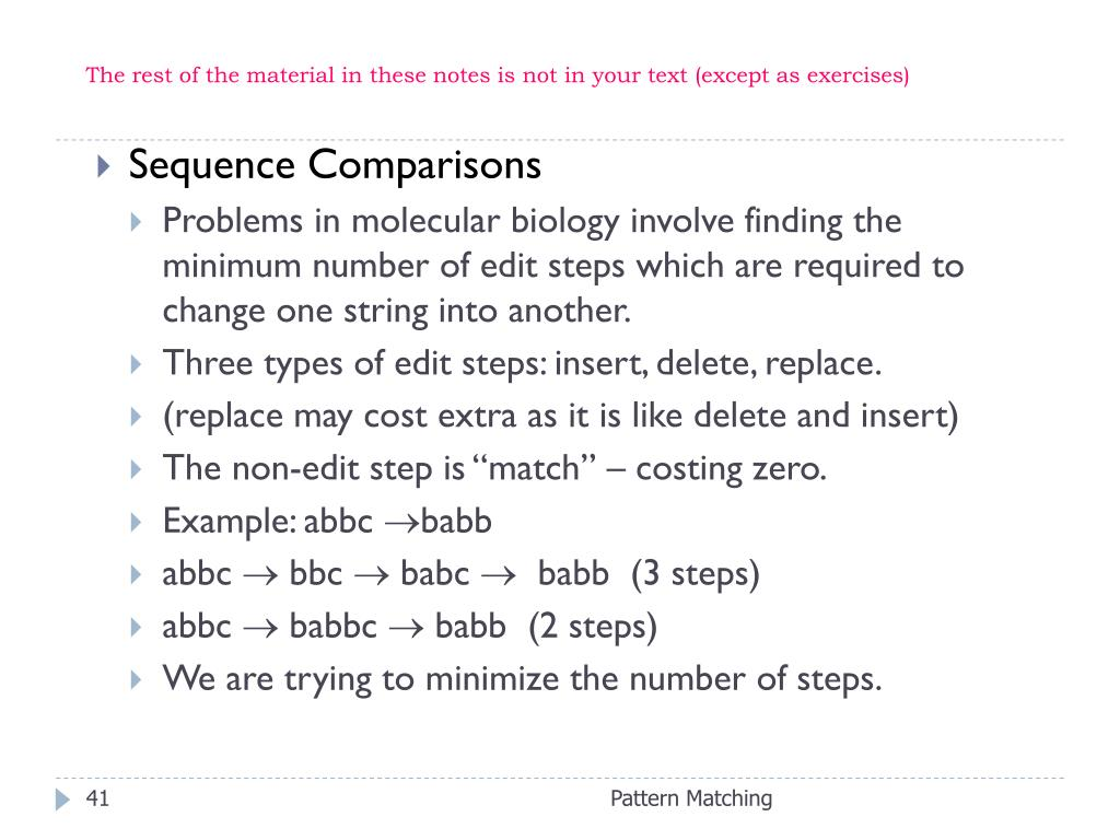 The rest of the material in these notes is not in your text (except as exercises)