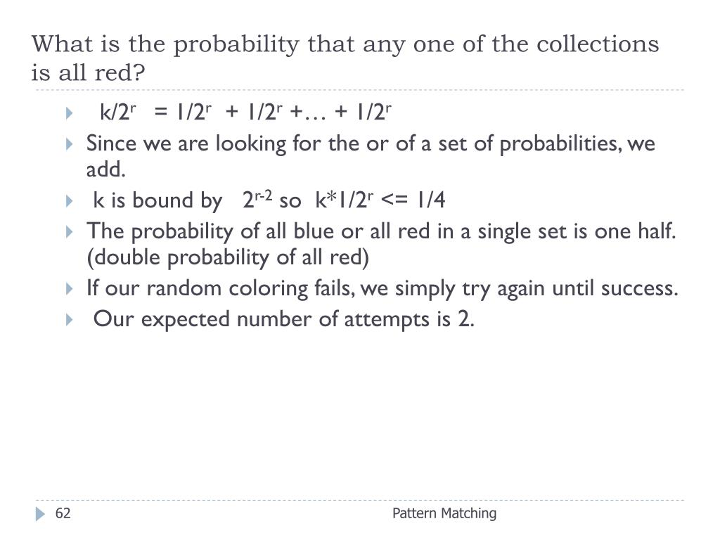 What is the probability that any one of the collections is all red?