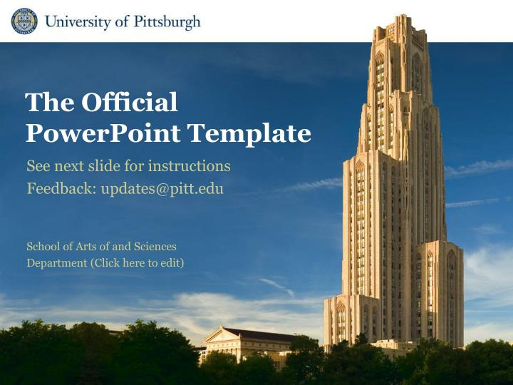 see next slide for instructions feedback updates@pitt edu n.