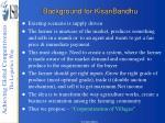 background for kisanbandhu