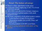 retail the indian advantage