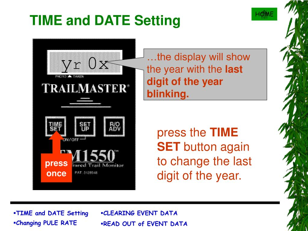 TIME and DATE Setting