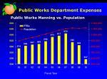 public works department expenses