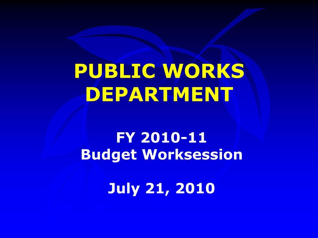 public works department l.
