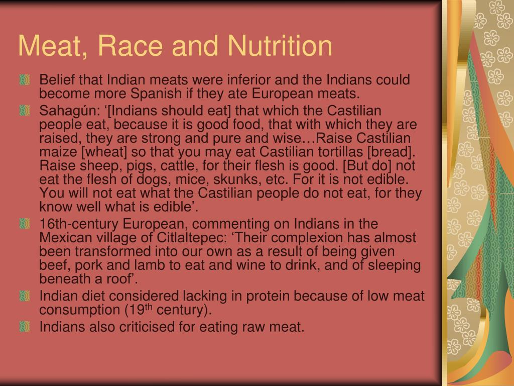 Meat, Race and Nutrition