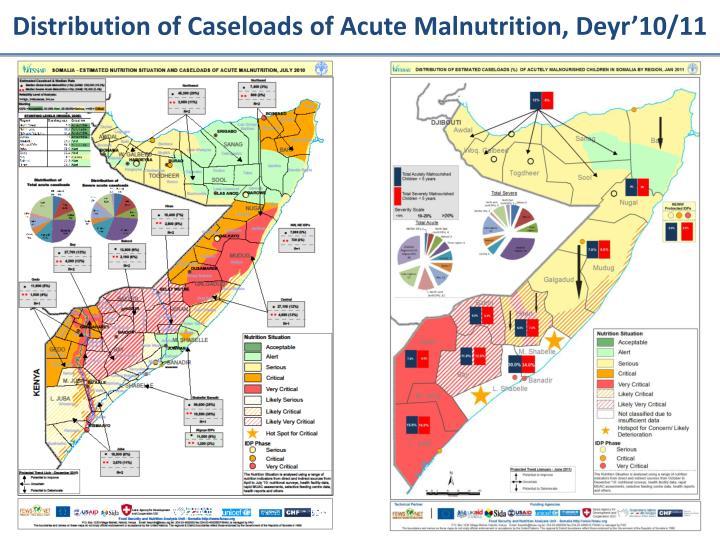 Distribution of Caseloads of Acute Malnutrition, Deyr'10/11