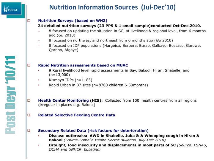 Nutrition information sources jul dec 10