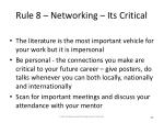 rule 8 networking its critical